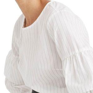 Madewell Stripe Tiered Sleeve Top